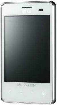 Смартфон LG Optimus L3 Dual / E405 (белый) - общий вид