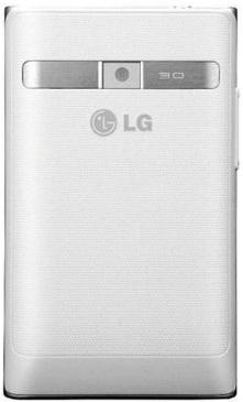 Смартфон LG Optimus L3 Dual / E405 (белый) - вид сзади