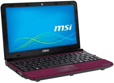 Ноутбук MSI U180-088XBY - фронтальный вид