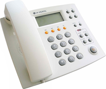 Проводной телефон LG Nortel LKA 220 C - общий вид (белый)