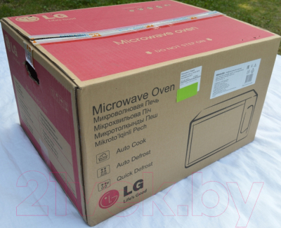 Микроволновая печь LG MB4342BS - коробка
