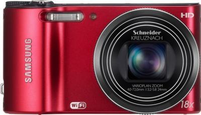 Компактный фотоаппарат Samsung WB150F (EC-WB150FBPRRU) Red - общий вид