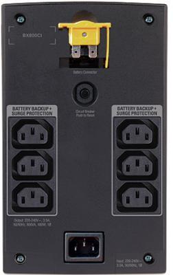 ИБП APC Back-UPS 800VA (BX800CI) - задняя панель