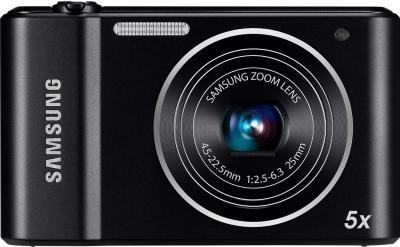 Компактный фотоаппарат Samsung ST66 (EC-ST66ZZFPBR) Black - вид спереди