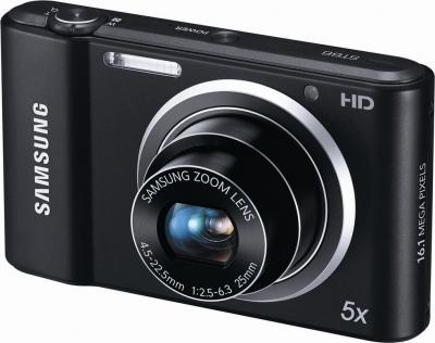 Компактный фотоаппарат Samsung ST66 (EC-ST66ZZFPBR) Black - общий вид