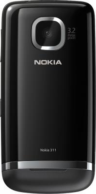 Мобильный телефон Nokia Asha 311 Dark Gray - задняя крышка