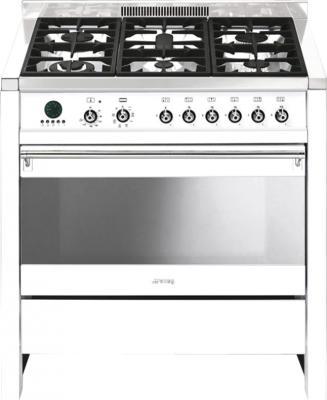 Кухонная плита Smeg CS19B-6 - общий вид
