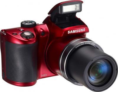Компактный фотоаппарат Samsung WB100 (EC-WB100ZBARRU) Red - общий вид