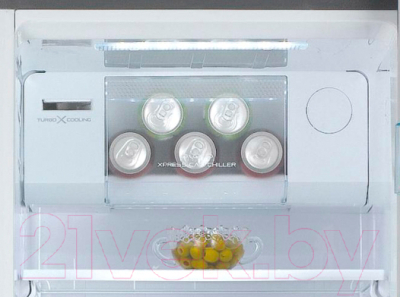 Холодильник с морозильником Daewoo FPN-X22F2VI