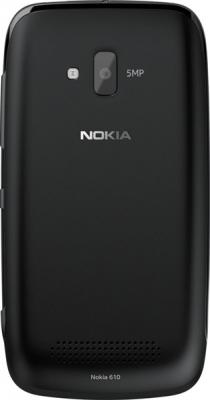 Смартфон Nokia Lumia 610 (Black) - задняя панель