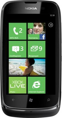 Смартфон Nokia Lumia 610 (Black) - общий вид