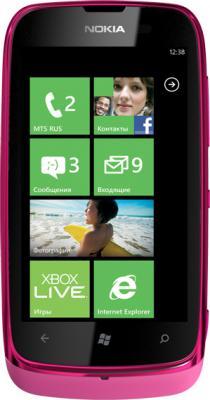 Смартфон Nokia Lumia 610 (Magenta) - общий вид