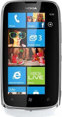 Смартфон Nokia Lumia 610 (White) - общий вид