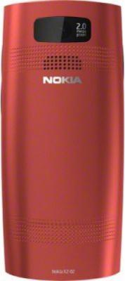 Мобильный телефон Nokia X2-02 Bright Red - задняя панель