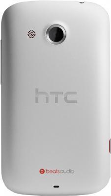 Смартфон HTC Desire C (A320e) White - вид сзади