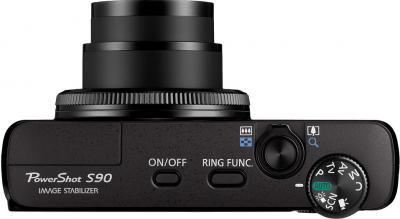 Компактный фотоаппарат Canon PowerShot S90 - вид сверху
