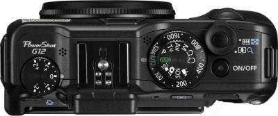 Компактный фотоаппарат Canon PowerShot G12 - вид сверху