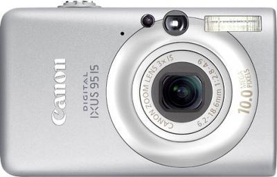 Компактный фотоаппарат Canon Digital IXUS 95 IS (PowerShot SD1200 IS) Silver - вид спереди