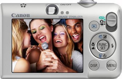 Компактный фотоаппарат Canon Digital IXUS 95 IS (PowerShot SD1200 IS) Silver - вид сзади