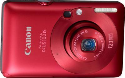 Компактный фотоаппарат Canon Digital IXUS 100 IS (PowerShot SD780 IS) Red - общий вид