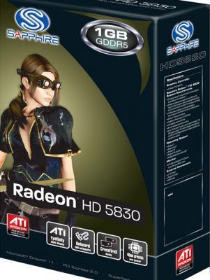 Видеокарта Sapphire HD 5830 1GB GDDR5 PCIE (11169-00-20R) - коробка