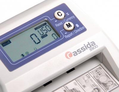 Детектор валют Cassida 3300 - дисплей