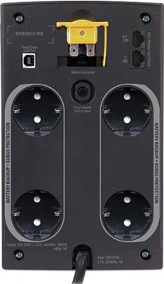 ИБП APC Back-UPS 800VA (BX800CI-RS) - задняя панель