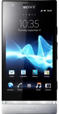 Смартфон Sony Xperia P (LT22i) Silver - общий вид