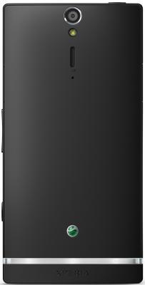 Смартфон Sony Xperia S (LT26i) Black - вид сзади
