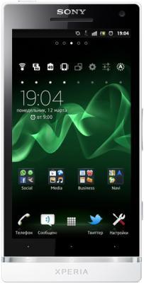 Смартфон Sony Xperia S (LT26i) White - общий вид