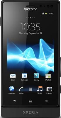 Смартфон Sony Xperia Sola (MT27i) Black - общий вид