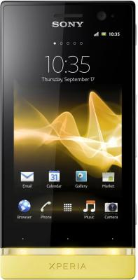 Смартфон Sony Xperia U (ST25i) Pure White-Yellow - общий вид