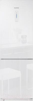 Холодильник с морозильником Daewoo RN-T425NPW - дверь с отделкой из стекла