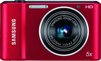 Компактный фотоаппарат Samsung ST66 (EC-ST66ZZFPRRU) Red - вид сзади