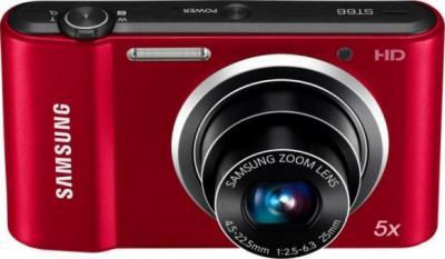 Компактный фотоаппарат Samsung ST66 (EC-ST66ZZFPRRU) Red - общий вид