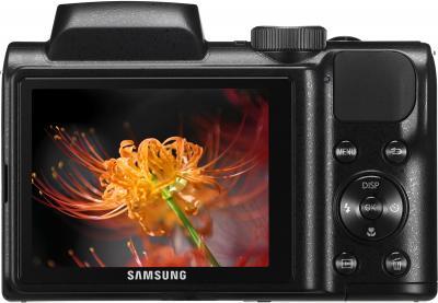 Компактный фотоаппарат Samsung WB100 (EC-WB100ZBABRU) Black - вид сзади