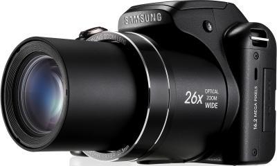 Компактный фотоаппарат Samsung WB100 (EC-WB100ZBABRU) Black - вид сбоку