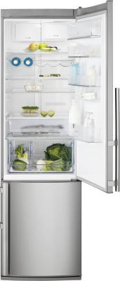 Холодильник с морозильником Electrolux EN3881AOX - общий вид