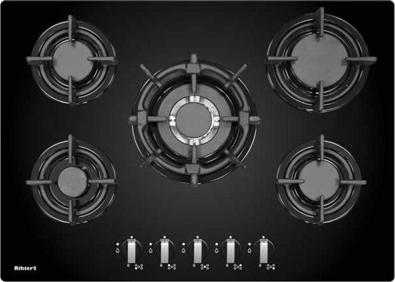 Газовая варочная панель Rihters H7-121 - общий вид