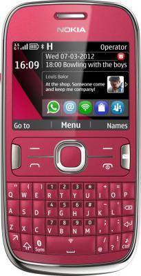 Мобильный телефон Nokia Asha 302 Plum Red - общий вид