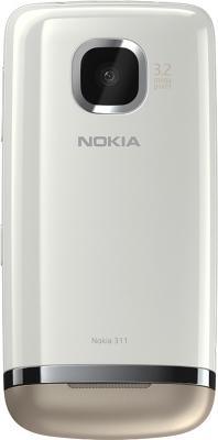 Мобильный телефон Nokia Asha 311 Sand White - задняя панель