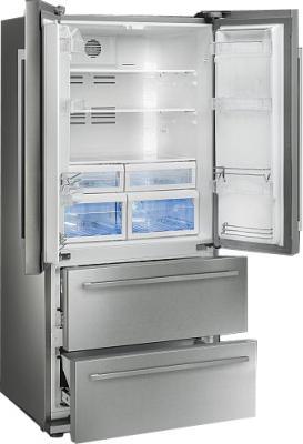 Холодильник с морозильником Smeg FQ55FXE - с открытой дверью