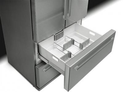 Холодильник с морозильником Smeg FQ55FXE - выдвижной ящик
