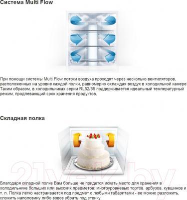 Холодильник с морозильником Samsung RL55TTE2A1