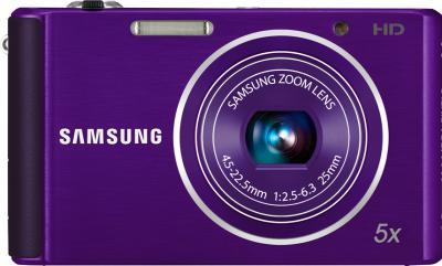 Компактный фотоаппарат Samsung ST77 (EC-ST77ZZFPLRU) Purple - вид спереди