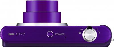 Компактный фотоаппарат Samsung ST77 (EC-ST77ZZFPLRU) Purple - вид сверху