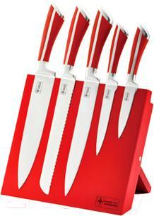 Набор ножей Royalty Line RL-MG5R (красный)