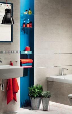 Плитка для пола ванной Tubadzin Gris Grafit (333x333)
