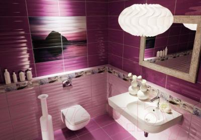 Плитка для стен ванной Tubadzin Maxima Purple STR (448x223)