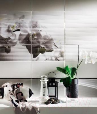 Декоративная плитка для ванной Tubadzin Панно Maxima Black 2 (898x673)